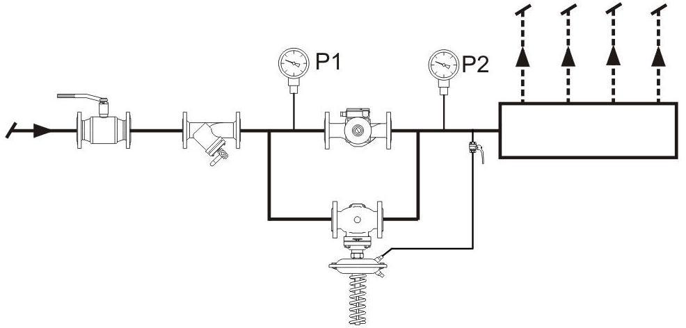 Регулятор давления до себя схема 2