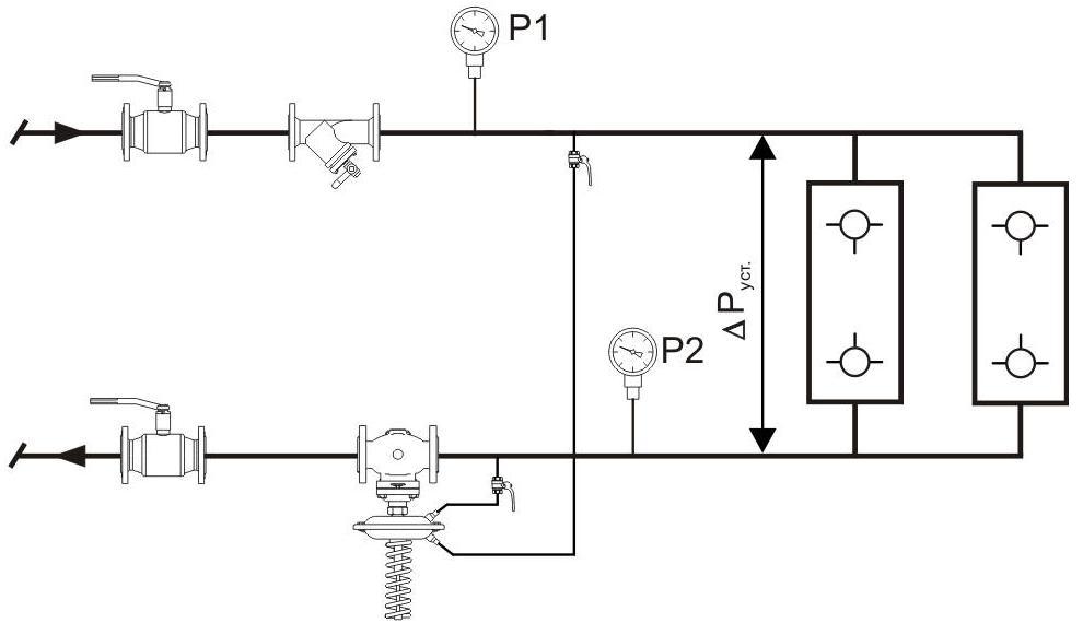 Регулятор перепада давления схема 2